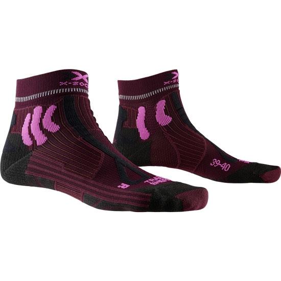 Xsocks Trail Run Energy W - Dark Ruby/Flamingo Pink