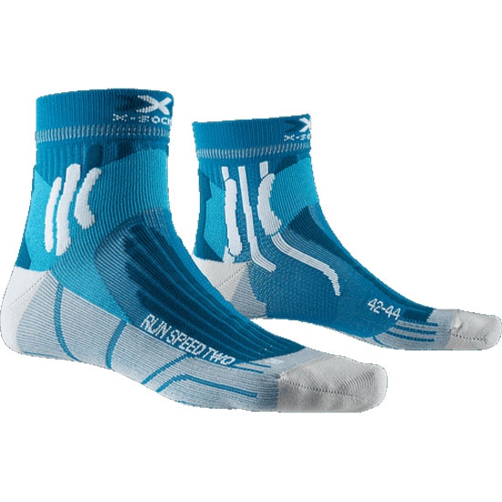 Xsocks Run Speed Two - Teal Blue/Pearl Grey
