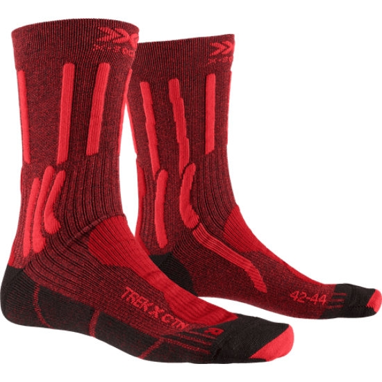 Xsocks Trek X Ctn - Dark Ruby/Fire Red