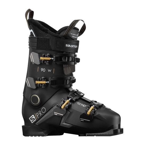 Salomon S/Pro 90 W Thermoformable - Black / Belluga / Golden Glow Metallic