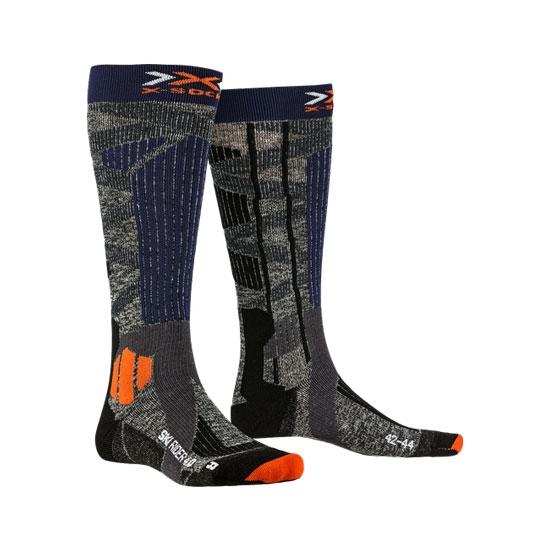 Xsocks Ski Rider 4.0 - Stone Grey/Melange Blue