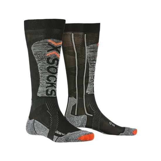 Xsocks Ski Energizer LT 4.0 - Black/Stone Grey Melenge
