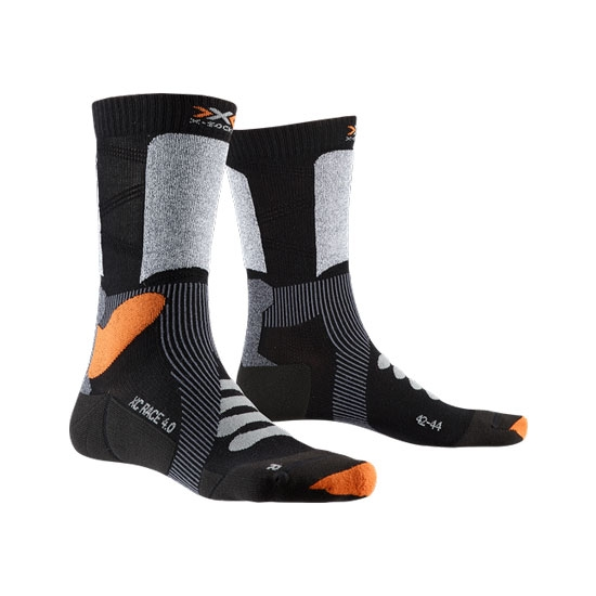 Xsocks X-Country Race 4.0 - Black/Stone Grey Melenge
