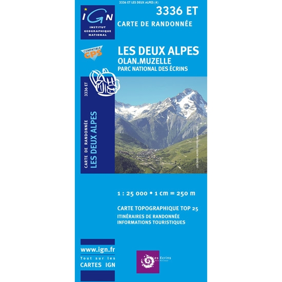 Ed. Ign France Mapa Les Deux Alpes. Olan, Muzelle -