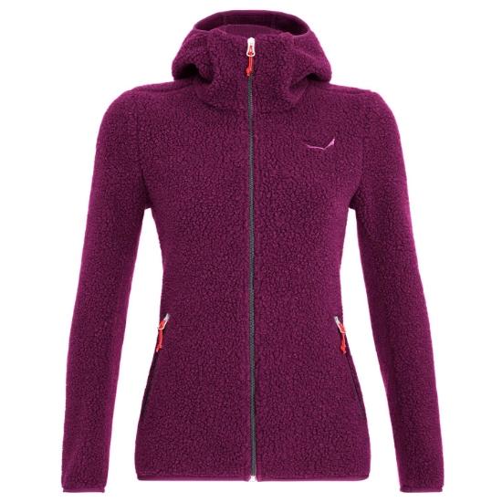 Salewa Fanes Shearling Wo Jacket W - Dark purple melange