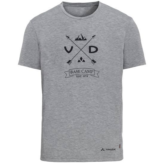 Vaude Gleann Shirt V - Grey melange/iron
