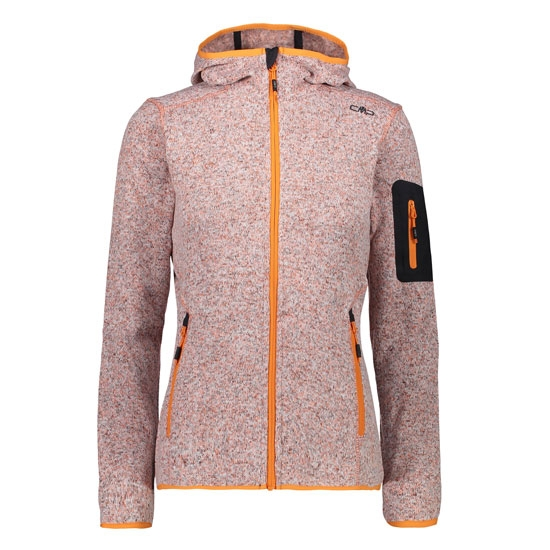 Campagnolo Knitted Hood Jacket W - Orange