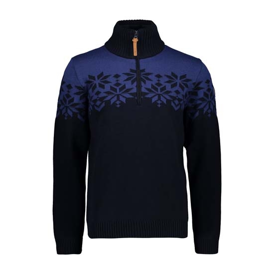 Campagnolo Knitted Pullover - Black Blue