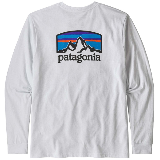 Patagonia L/S Fitz Roy Horizons Responsibili-Tee - Photo of detail