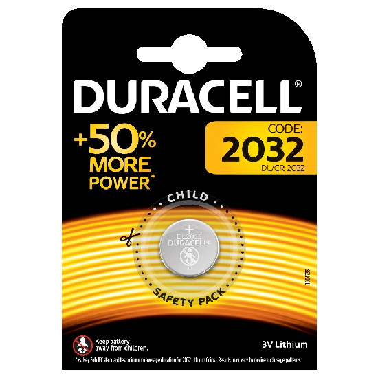 Duracell Botón 3V Litio - DL2032 -