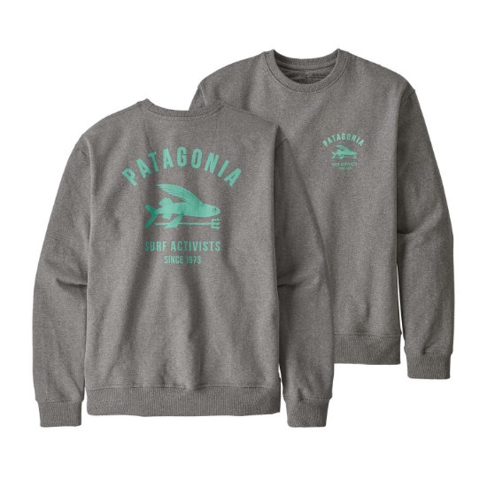 Patagonia Surf Activists Uprisal Crew Sweatshirt - Gravel Heather