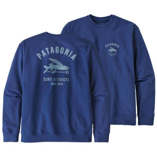 Patagonia Surf Activists Uprisal Crew Sweatshirt - Super Blue