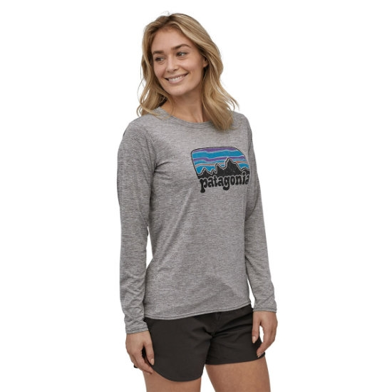 Patagonia Long-Sleeved Capilene® Cool Daily Graphic Shirt W - Photo de détail
