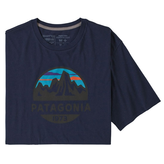 Patagonia Fitz Roy Scope Organic Cotton T-Shirt - Classic Navy