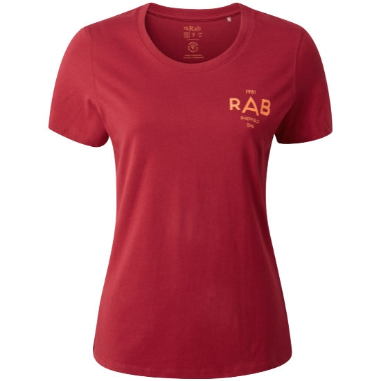Rab Stance Geo SS Tee W - Crimson
