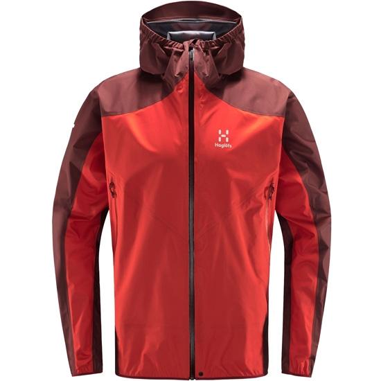Haglöfs L.I.M Comp Jacket - Habanero/maroon red