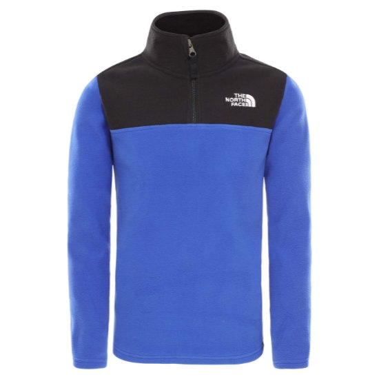 The North Face Glacier Blockes ¼ Zip Recycled Jr - Blue