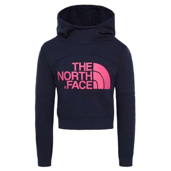 The North Face Cropped Hoodie Girl - Montague Blue