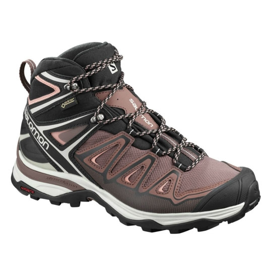 Salomon X Ultra 3 Mid Gtx W - Peppercorn/Black/Coral Almond