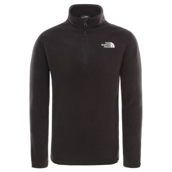 The North Face Glacier ¼ Zip Recycled Jr - Black/White