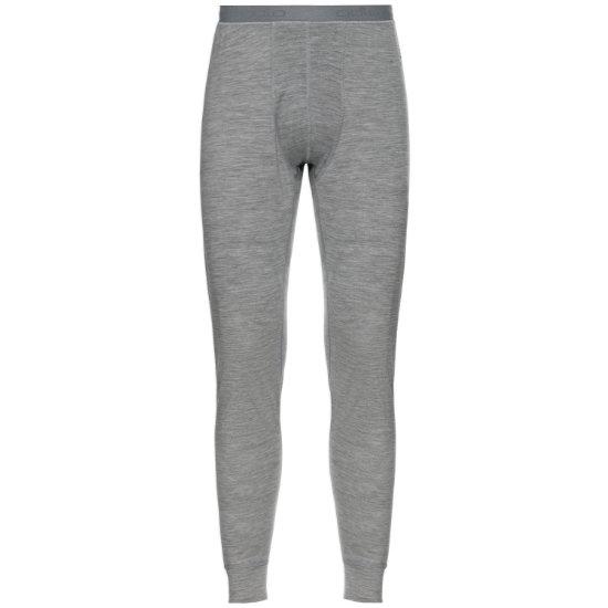 Odlo Suw Bottom Pant Nat Merino Warm - Grey Melange