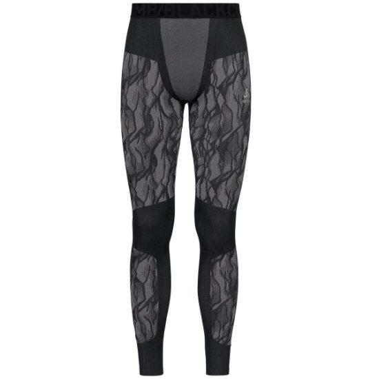 Odlo Blackcomb Baselayer Pants - Black/Odlo Stone