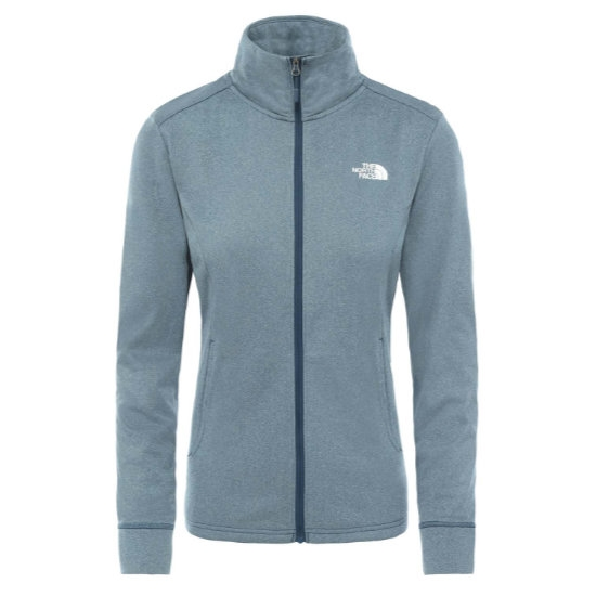 The North Face Quest FZ Midlayer W - Blue Wing Teal White Heather