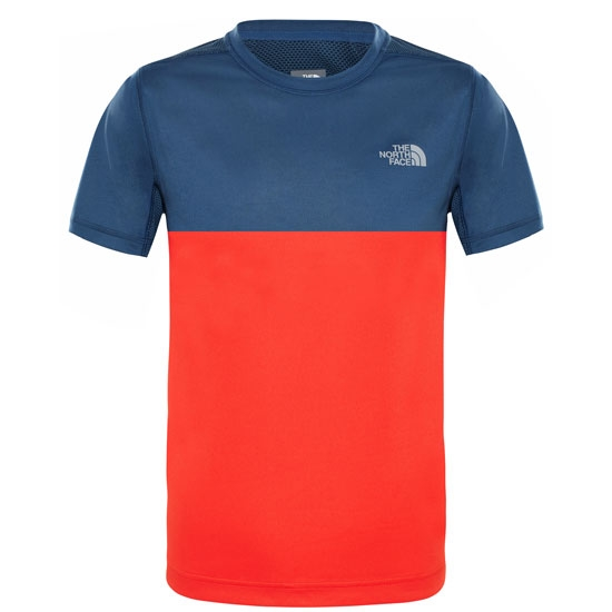 The North Face Reactor S/S Tee Boy - Fiery Red