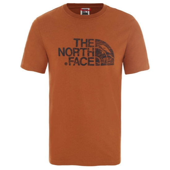The North Face Woodcut Dome Tee - Caramel Cafe