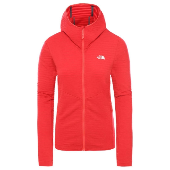 The North Face Impendor Light Midlayer Hoodie W - Tnf Red Dark Heather