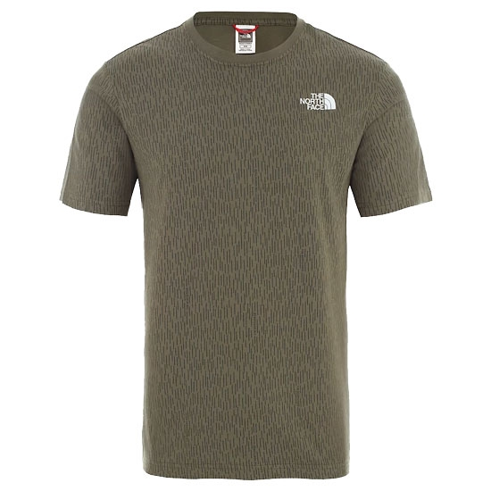 The North Face Redbox Tee - Burnt Olive Green Rain Camo Print