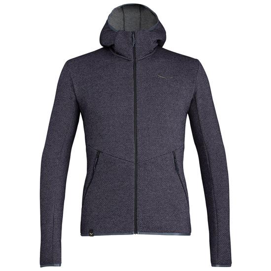 Salewa Puez Wool Fz Hoody - Premium Navy Melange
