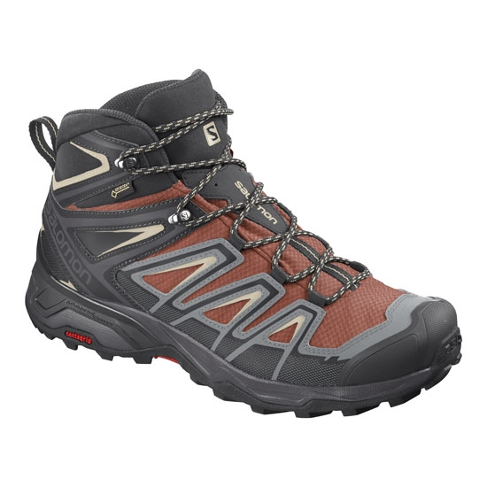 Salomon X Ultra 3 Mid GTX - Burnt Bric/Black/Blue