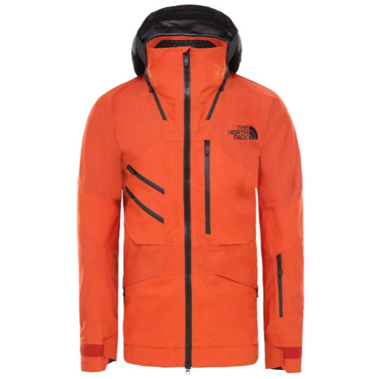 The North Face Summit Brigandine Futurelight Jacket - Papaya Orange Fuse/Weathered Black Fuse