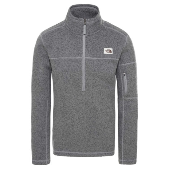 The North Face Gordon Lyons 1/4 Zip - Medium Grey Heat