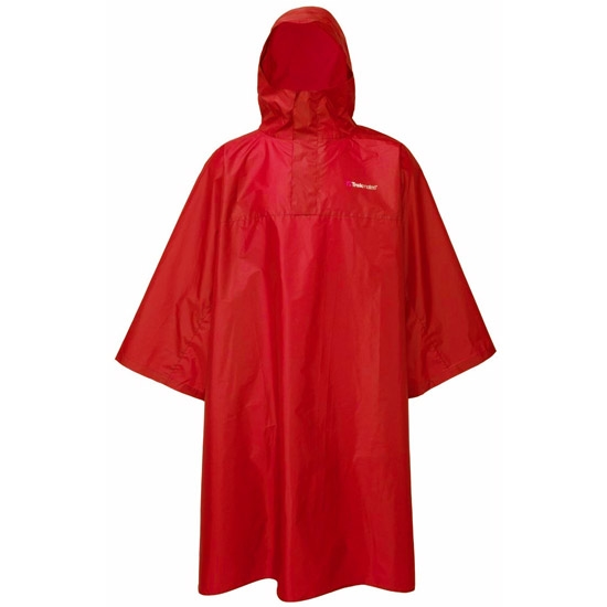 Trekmates Deluxe Poncho - Red