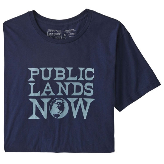 Patagonia Public Lands Now Organic Cotton T-Shirt - Classic Navy