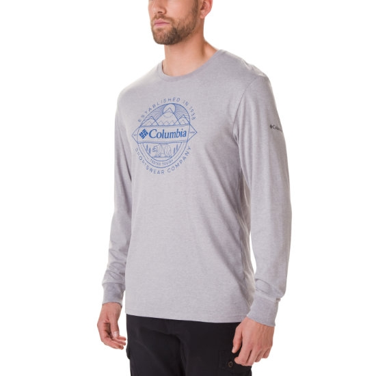Columbia Cades Cove Ls Graphic Tee - Columbia Grey