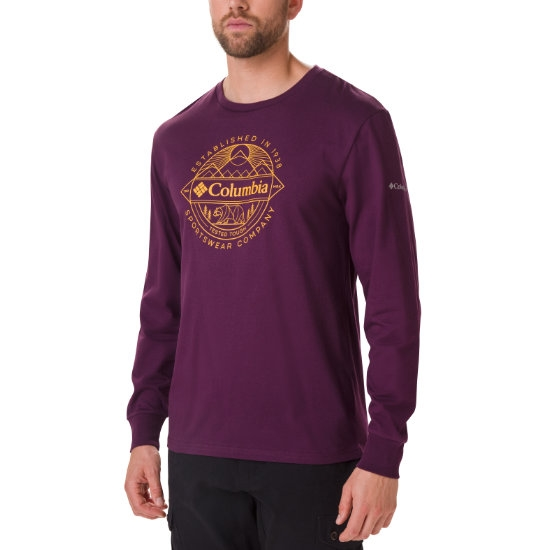 Columbia Cades Cove Ls Graphic Tee - Black Cherry