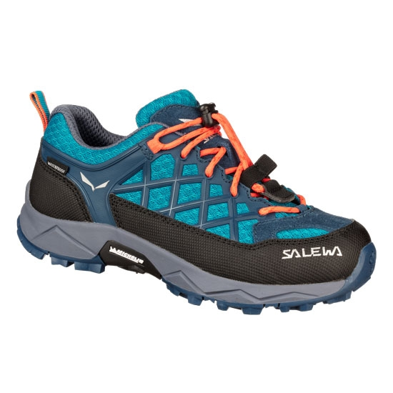 Salewa Wildfire WP Jr - Caneel Bay/Fluo Coral