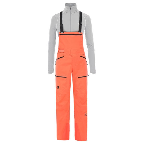 The North Face Summit Purist Bib W - Radiant Orange
