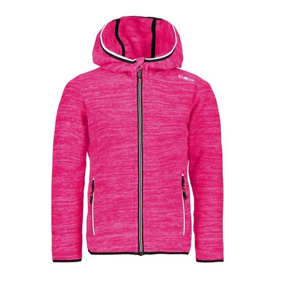 Campagnolo Fix Hood Jaquard Fleece Girl - Fuxia Fluo Melange