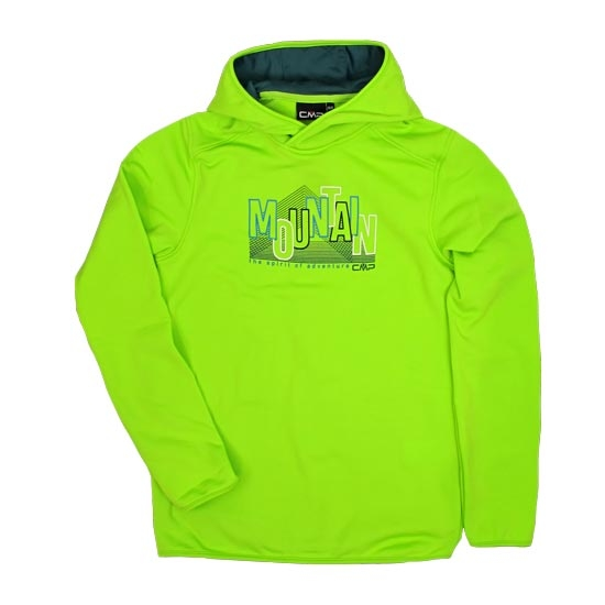 Campagnolo Sweat Fix Hood Boy - Limegreen