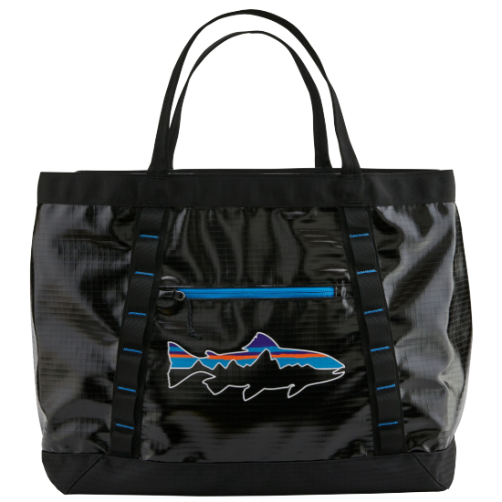Patagonia Black Hole Gear Tote - Black w/Fitz Trout