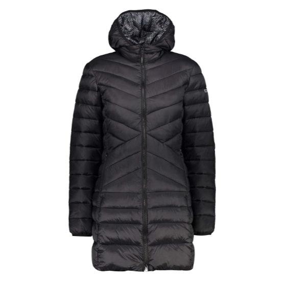 Campagnolo Coat Zip Hood W - Black
