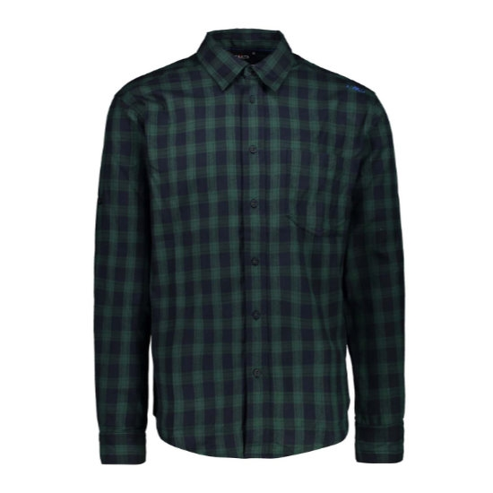 Campagnolo Brushed Flannel Shirt - Blue/Pino