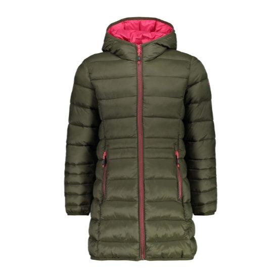 Campagnolo Coat Fix Hood Girl - Loden