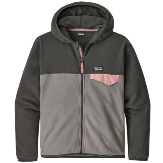 Patagonia Girls Micro D Snap-t Jacket - Feather Grey