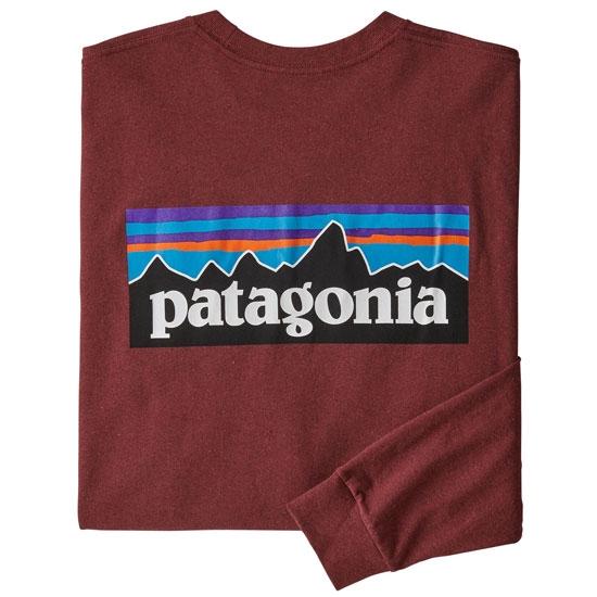 Patagonia L/S P-6 Logo Responsibili-Tee - Oxide Red