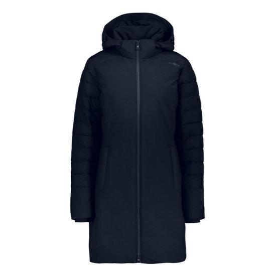 Campagnolo Light Softshell Coat Zip Hood W - Black Blue